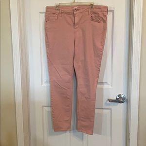 Old Navy Light Pink Rockstar Jeans 16